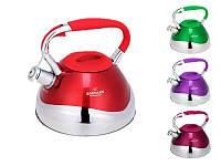 Чайник со свистком Bohmann BH 9999 2,7л цветной