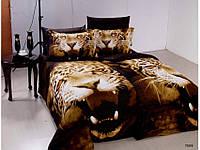 Постельное белье Tiger сатин фотопринт 3D ТМ Arya (Ария) Турция, тигры