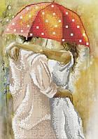 Схема для вышивки бисером Осенний роман под зонтом-2