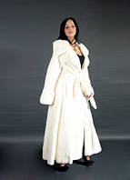 Шуба натуральная женская белая норковая Roberto Cavalli 0008