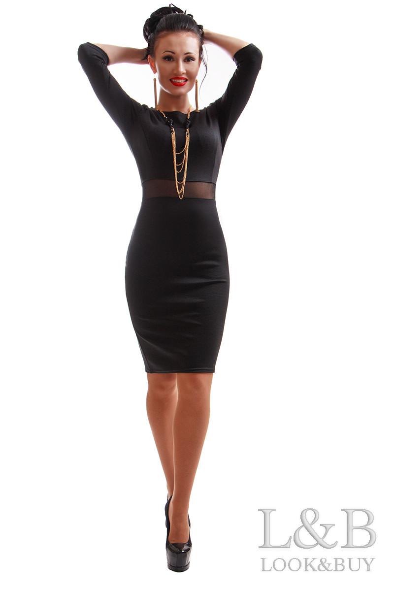 Платье трикотаж TIFFANI черный
