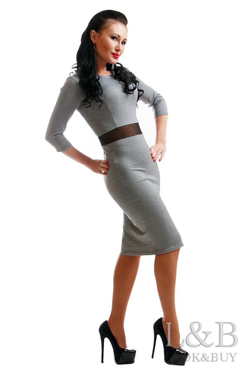 Платье трикотаж TIFFANI серый