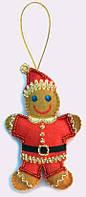 Набор для шитья игрушки из фетра Пряничный человечек БФ F 040