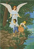 Схема для вышивки бисером Ангел-хранитель и дети