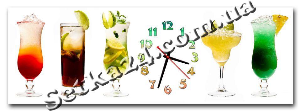 "Часы настенные ""Коктейль"" (30х90 см)"