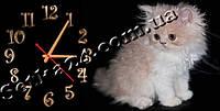 "Часы настенные ""Котенок"" (30х60 см)"