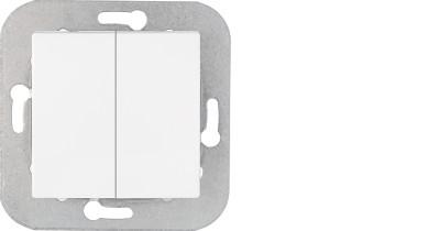 Выключатель С510-551 двойной без рамки скрытой установки  Уют, Биэлектрика