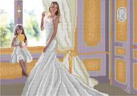 Схема для вышивки бисером Невеста