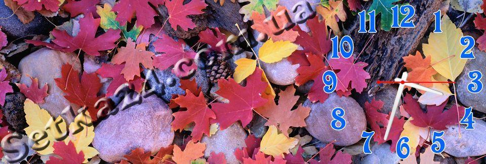 """Часы настенные """"Осень"""" (30х90 см)"""