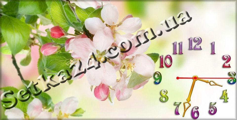 """Часы настенные """"Первоцвет"""" (30х60 см)"""