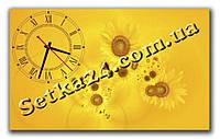 "Часы настенные ""Подсолнухи"" (30х50 см)"