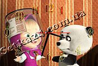 Часы настенные в детскую Маша и медведь (30х45 см)