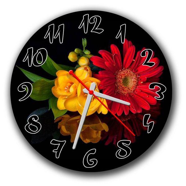 Часы настенные круглые Живые цветы 30х30см ATR 36