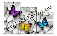 """Часы настенные модульные """"Бабочка"""" (90х60 см) М85"""