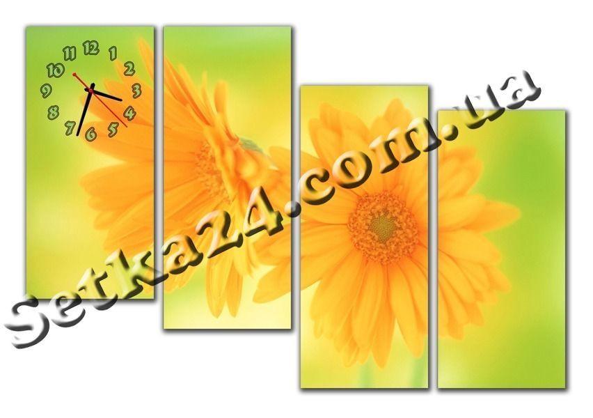 """Часы настенные модульные """"Цветы"""" (120х70 см) М68"""