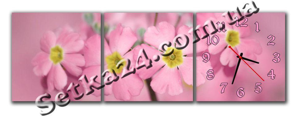 """Часы настенные модульные """"Цветы"""" (90х30 см) М92"""