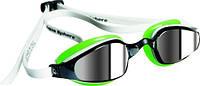 Окуляри для плавання K180 WH/GN L/MIRROR (біло-зелений; лінзи дзеркальні)