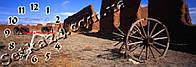 Часы настенные Разрушеный город-1 (30х90 см)