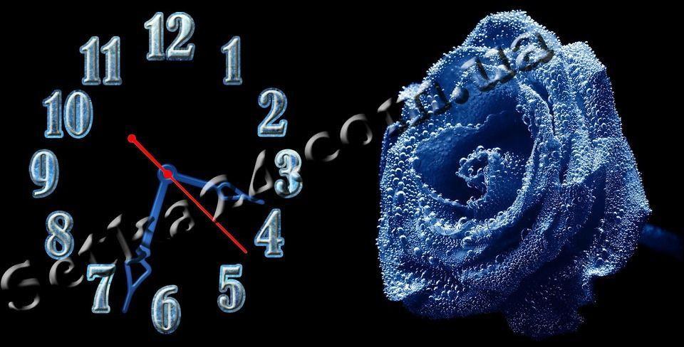 Часы настенные Роза-1 (30х60 см)