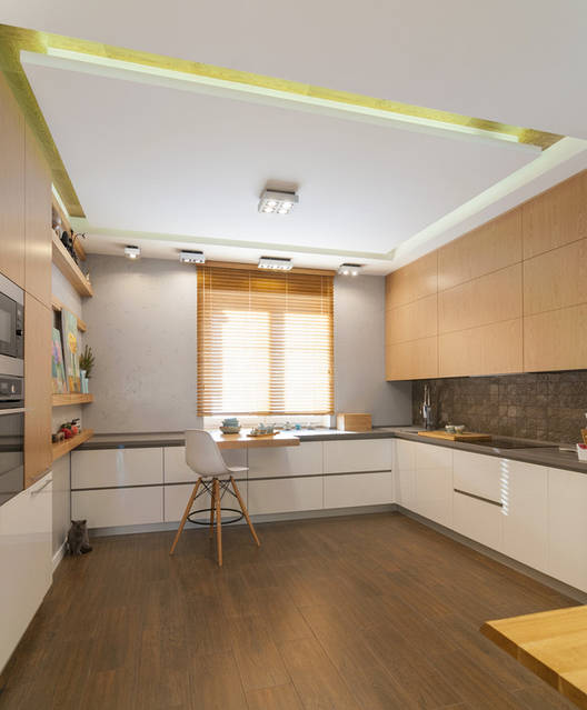 1 этаж, гостиная, кухня-столовая.