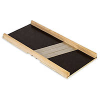Шинковка деревянная Kamille 10083 39*17.5*2.5см на 3 ножа