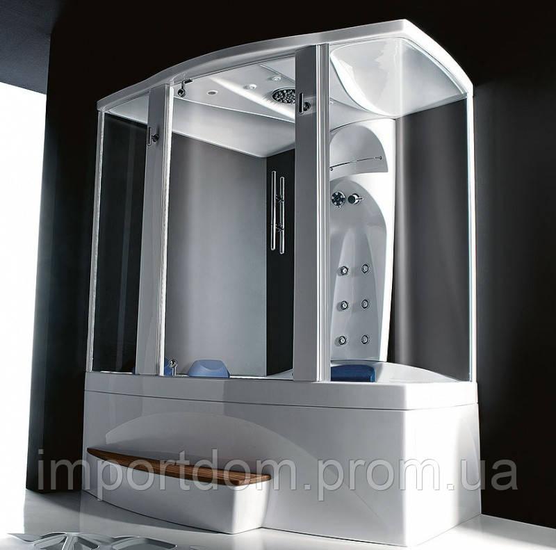 Угловая ванна с душевой кабиной Vasche Angolari Matrix Top 136