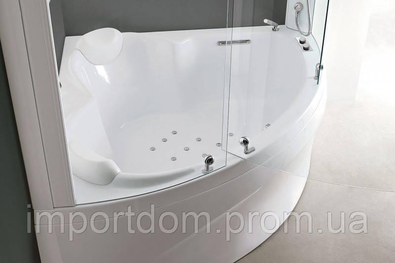 Угловая ванна с душевой кабиной Vasche Angolari Dafne Box 124