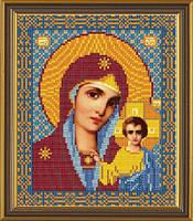 Рисунок на ткани для вышивки бисером Пресвятая Богородица Казанская
