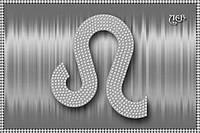 Схема для вышивки бисером Знак зодиака Лев серебро