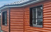 Металлический сайдинг  (блок-хаус, корабельная доска)