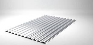 Шифер металлический (металлошифер, волнир) ВС-30 Цинк 0,4мм