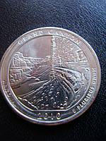 """25 центов 2010 США """"Большой каньон"""" (Grand Canyon)"""