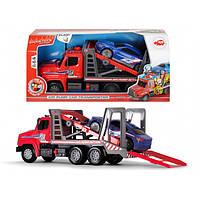 Автотранспортер с воздушной помпой с легковым авто Dickie Toys
