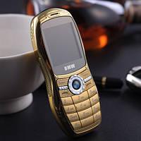 Маленький телефон под нокиа BMW mini X6 на 2 Sim металлический корпус!