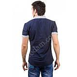 L/48 Рубашка мужская темно-синяя короткий рукав, фото 2