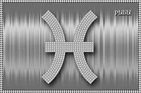 Схема для вышивки бисером Знак зодиака Рыбы серебро