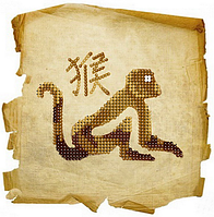 Схема для вышивки бисером Обезьяна на папирусе
