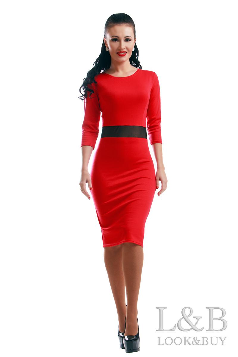 Платье трикотаж TIFFANI красный