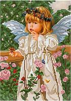Схема для вышивки бисером Ангелочек и бабочки