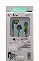 Наушники с микрофоном EX 730 SONY, вакуумные проводные наушники