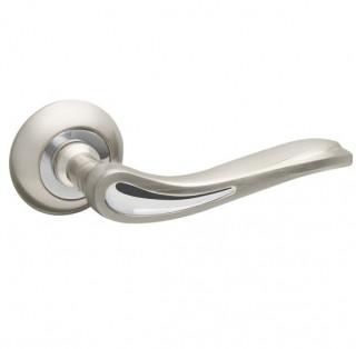 Ручка дверная Fuaro MELODY RM SN/CP-3 матовый никель/хром