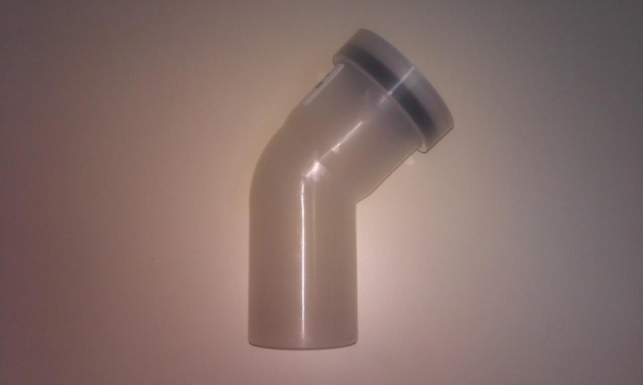 Коліно для конденсаційного котла ф60, 45гр, Almeva