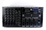 Усилитель мощности звука профессиональный, микшер UKC AV-2018, SD/MMC, USB, размер 400х139х341 мм
