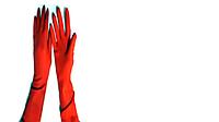 Перчатки резиновые хозяйственные 40см