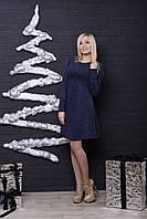 Трикотажное женское платье джинс, фото 1