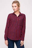 Рубашка в красную полоску NET