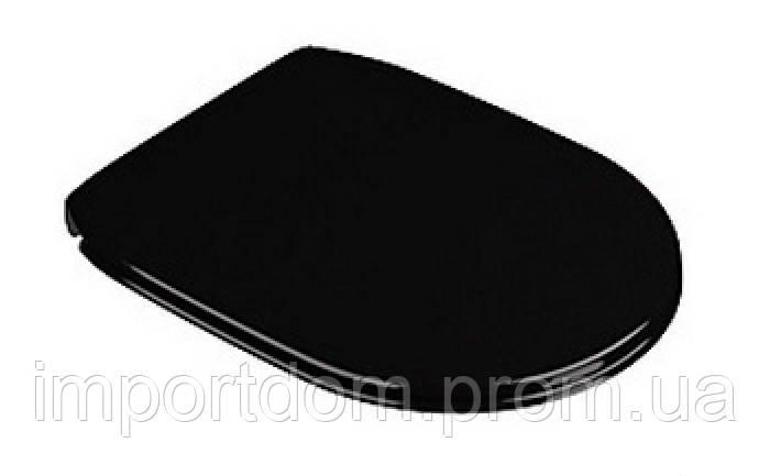 Сиденье для унитаза Catalano Canova Royal Soft-close Nero черное (5SSSTFNE)