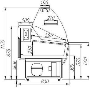 Универсальная витрина Полюс Эко ВХСр-1,2, фото 2