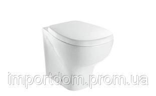 Унитаз напольный пристенный  Affetto AF001.BI белый глянец