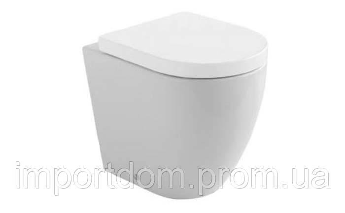 Унитаз напольный пристенный Globo Concept SA005.BI белый глянец